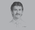 Sketch of Robin Fleming, CEO, Bank South Pacific (BSP)