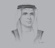 Sketch of Sheikh Saud bin Saqr Al Qasimi, Supreme Council Member and Ruler of Ras Al Khaimah