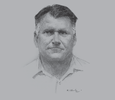 Sketch of Tony Honey, Managing Director, PNG Forest Products