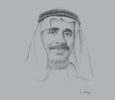 Sketch of Yousef Obaid Al Nuaimi, Chairman, Ras Al Khaimah Chamber of Commerce and Industry