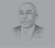 Sketch of Christophe Akagha-Mba, Minister of Mines, Industry and Tourism