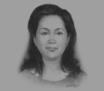 Sketch of Dr Grace Frelita, Vice-Chairman, Strategic Health Care Committee, Indonesian Chamber of Commerce and Industry