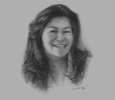Sketch of Rica Davila, Chairman and CEO, Lapanday Foods Corporation