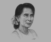 Daw Aung San Suu Kyi, Chairperson, National League for Democracy