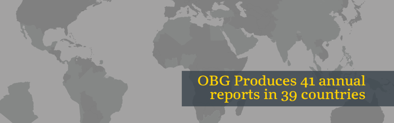 OBG produces 41 annual reports in 39 countries