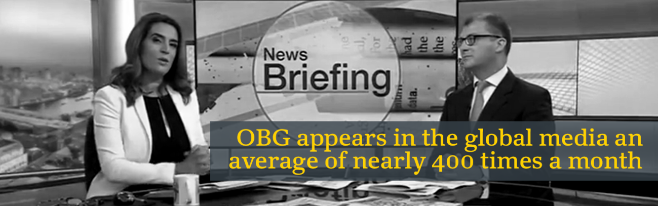 OBG appears in the global media an average of nearly 400 times a month