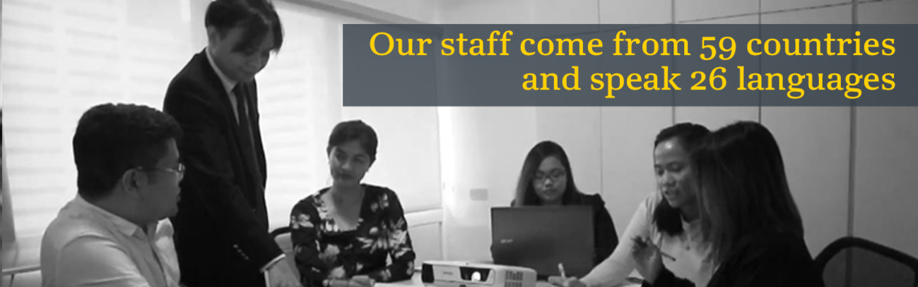 Our staff come from 40 countries and speak 31 languages