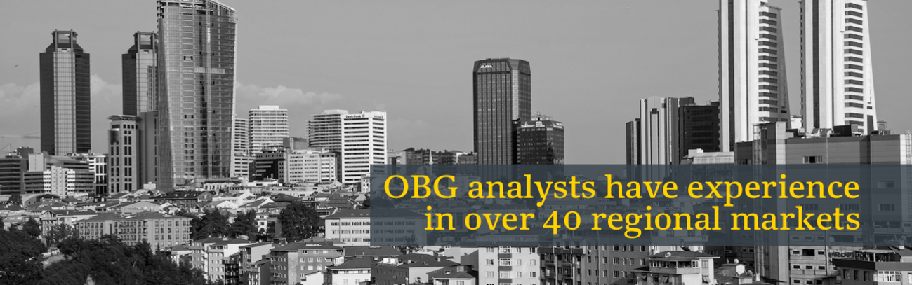 OBG analysts have experience in over 34 regional markets