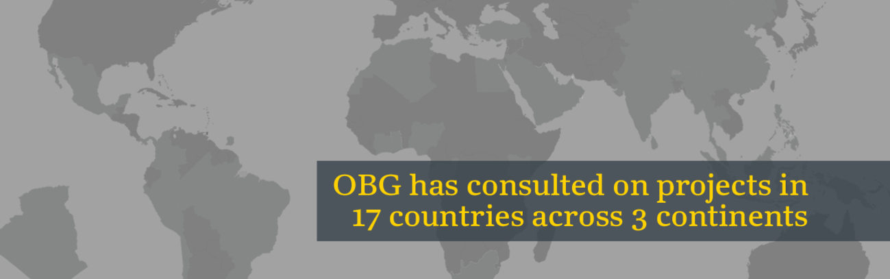 OBG has consulted on projects in 17 countries across 3 continents