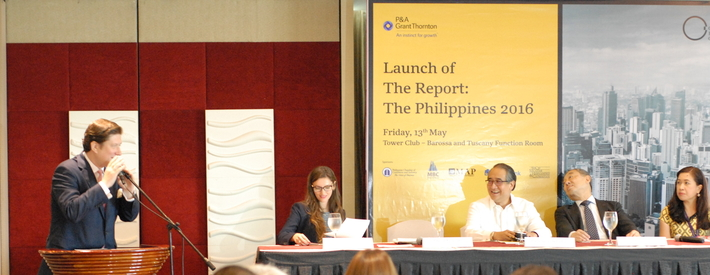 Managing Editor for Asia Paulis Kuncinas, speaking at the report launch event