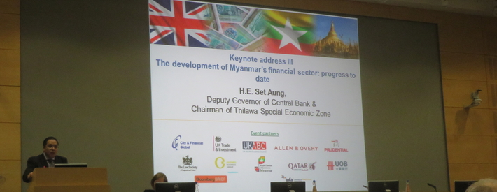 OBG participates in a conference promoting economic reform in Myanmar